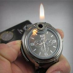New Cool Fashion Real Watch Refillable Butane Gas Cigarette Cigar Lighter HIYG