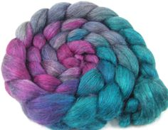 Spinning Fiber  Alpaca & Silk Combed Top / by UpstreamAlpacas, $22.00
