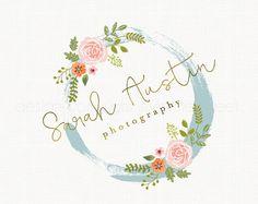 photography logo rose logo design flower by stylemesweetdesign Más Florist Logo, Wedding Logos, Wedding Invitations, Wedding Rings, Event Logo, Photography Logo Design, Flower Logo, Watercolor Logo, Arte Floral