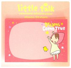 Items similar to Kawaii RED RIDING HOOD little talk Japan sticky notes memo pad stationery cute pink on Etsy
