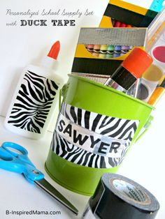 A Back to Craft of Personalized School Supplies [Sponsored by Duck Tape at Walmart] - #kids #parenting
