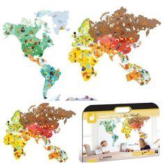 Carte du monde magnétique_Une_Magnetistick_Janod_Expressionsdenfants Gaspard, Map Design, Janod, Cute Babies, Maps, Magnets, Expressions, Stickers, My Love