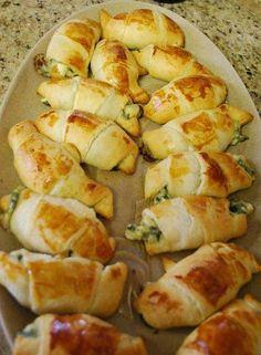Cresent rolls spinach, feta and mozzarella