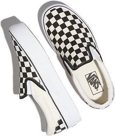 Vans Classic Slip-On Checkered Platform Shoes   DICK'S Sporting Goods Luxury Logo, Luxury Branding, Platform Shoes, Slip On Shoes, Vans Original, Vans Checkerboard, Vans Kids, Luxury Girl, Skate Shoes