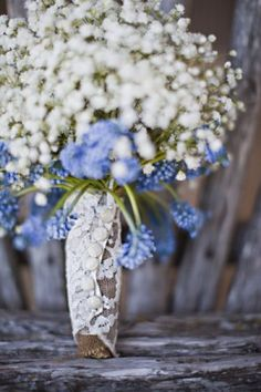 Floral Arrangement | Periwinkle Wedding Details, Periwinkle Wedding Color, Periwinkle Color ...