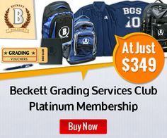 Beckett Media Grading Services Club - Platinum for $349. Free Ogio Roller Bag ($150 retail), Cross Ballpoint Pen, 18 Grading Vouchers @ 10 day service level, Total Access 3 Month Online Price Guide