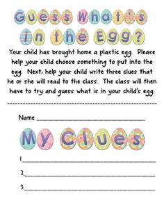 Fun Easter writing activity