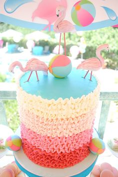 Flamingo party cake: http://thecottagemarket.com/2015/06/flamingo-diy-projects-for-your-summer-party.html