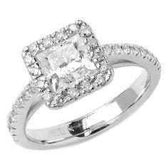 1 50 Ct T w SI1 F Princess Cut Diamond Engagement Ring
