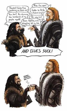 Ulfric Stormcloak (Skyrim) meets Thorin (The Hobbit.) They would totally be best friends. *omg they so would '-'*