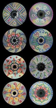 cd art for kids / cd art ` cd art projects ` cd art diy ` cd art aesthetic ` cd art for kids ` cd art painting ` cd artwork cd art ` cd art projects old cds Recycled Cds, Recycled Art Projects, Recycled Crafts, Craft Projects, Teen Art Projects, Unique Art Projects, Recycled Windows, Art Cd, Dot Painting