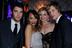 The 2012 Vanity Fair Oscar Party  --------Joshua Bowman, Ashley Madekwe, Emily VanCamp and Gabriel Mann.