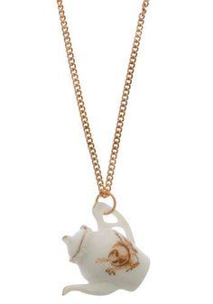 Teapot necklace!