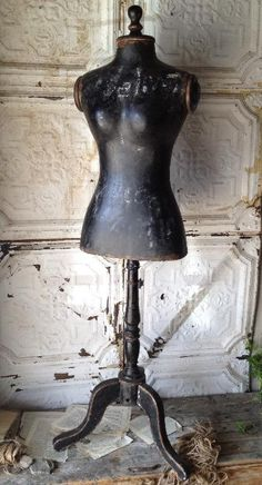 Shabby French Chic Large Mannequin w Black Chalkboard Body Dress Form Paris New