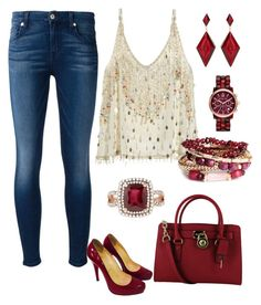 Free Spirit by sassyzanne on Polyvore featuring polyvore, fashion, style, Calypso St. Barth, 7 For All Mankind, Christian Louboutin, Effy Jewelry, Michael Kors and Amrita Singh