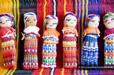 Guatemala Dolls - 1 Free Guatemalan Fabric Bag Worry Doll Anxiety Trouble Mayan People 24 Worry Dolls from Guatemala 1.5 in Super Cute Small Worry Dolls
