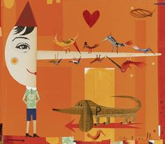 Sara Fanelli - Pinocchio book illustration