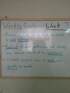 Week 7     goals