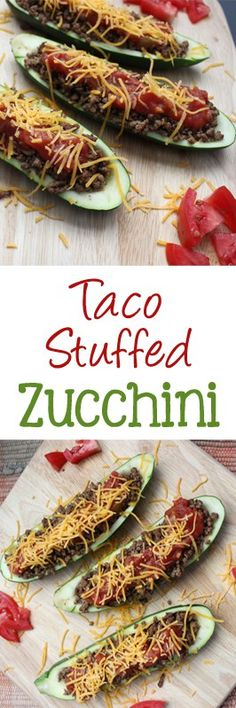 Take your zucchini south of the border with taco stuffed zucchini. It's a great low carb option to enjoy tacos.| EverydayMadeFresh.com
