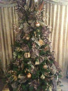 cheetah christmas trees | 2012 Leopard design Christmas tree. Created by ... | Love the animal ...