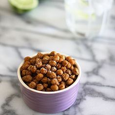 Super easy spicy, nutty, roast chickpeas; a healthy snack to have with drinks