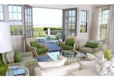 Nantucket living room over looking the bay.