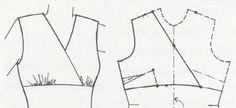 ♥: Cómo coser un vestido de corte imperio Sewing Hacks, Sewing Tutorials, Patron Vintage, Make Your Own Clothes, Dress Making Patterns, Pattern Cutting, Pattern Drafting, Jacket Pattern, Fashion Sewing