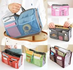 Simply Gorgeous Ladies Handbag Liner Insert Tidy Organiser Blue