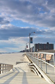 Long Beach NY Boardwalk in winter     -- the boardwalk was destroyed by Hurricane Sandy, but is being rapidly rebuilt this summer (2013)--during the year we lived there (1991-1992), we walked the boardwalk almost every day!