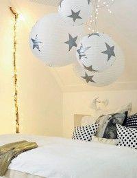 Ikea Lampen kaufen und selber Sterne drauf kleben. So einfach kann es sein