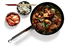 """Korean-Style Braised-Short-Rib Stew adapted from """"L.A. Son: My Life, My City, My Food,"""" by Roy Choi 