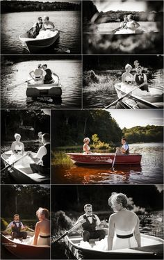 bride and groom lake canoe boat bridal portraits wedding details port sydney Diana Whyte Photography