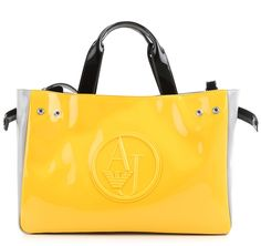 1c2d22ac58 Bolso Armani jeans charol amarillo. bag, сумки модные брендовые, bag  lovers,bloghandbags.blogspot.com