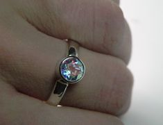 Mystic Topaz Ring  Unique by FantaSeaJewelry on Etsy, $65.00