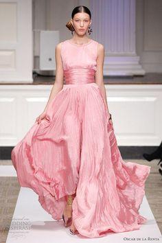 oscar de la renta wedding dress 2012 pink