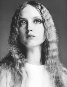 Ingrid Boulting with her crimped hair ..1980s. #fashion#curly#hair
