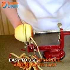 Easy to use and so convenient, the Apple Peeler Slicer & Corer takes the time-consuming drudgery out of preparing apples for pies, cobbler or applesauce. Cool Kitchen Gadgets, Home Gadgets, Cooking Gadgets, Gadgets And Gizmos, Cooking Tools, Kitchen Hacks, Cool Kitchens, Kitchen Tools, Cool Inventions