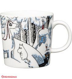 Snowhorse Moomin mug Winter 2016 from Arabia by Tove Jansson, Tove Slotte Moomin Shop, Moomin Mugs, Nordic Design, Scandinavian Design, Moomin Valley, Tove Jansson, The Book, Tea Pots, Original Artwork