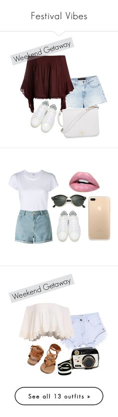 """""""Festival Vibes"""" by shavellexoxo on Polyvore featuring RE/DONE, Miss Selfridge, Yves Saint Laurent, Ray-Ban, MadeWorn, New Look, Assya London, Topshop, Doublju and Ahlem"""