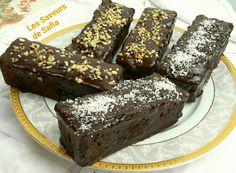 """Petits cakes gourmands  au chocolat et noisettes   Recette sur Facebook  """"Les Saveurs de Safia"""""""