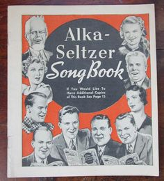 Vintage Alka-Seltzer Song Book | 21 Vintage Street Alka Seltzer, Star Spangled Banner, Vintage Sheet Music, This Book, All Pictures, Vintage Advertisements, Comic Strips, More Fun, Songs
