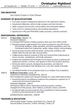 Project Resume Example Click Here To Download This Project Manager Resume Template Http .