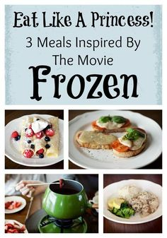 Get Away Today Vacations - Official Site - Eat Like a Princess! 3 Meals Inspired by the Movie Frozen Frozen Themed Food, Frozen Themed Birthday Party, Birthday Cake, Birthday Parties, Disney Inspired Food, Disney Food, Disney Recipes, Family Meals, Kids Meals