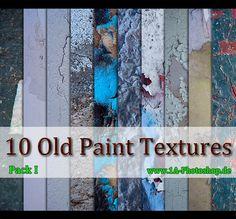 10 x Old Paint Textures - Pack I gratis downloaden by @Viktor Peschel