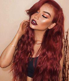 Dark Red Hair, Red Hair Color, Burgundy Color, Hair Colors, Giving Back, Hair Dos, The Darkest, Halloween Face Makeup, Long Hair Styles