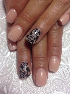SNS nails with design by Lili !