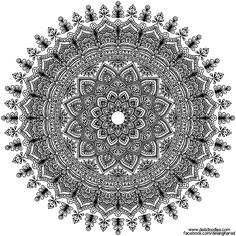 Click the 'download' link on the right to grab the full-size file to print and colour Watch the video of this mandala being drawn - www.facebook.com/delangharad/v… Support me on Patreon...