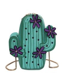 6124d4851956 Women s Small Crossbody Bag Cactus Shaped Pu Leather Shoulder Bags Purse      Check out this great product.