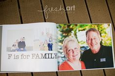 oh.my.goodness! I LOVE this idea! A photo book based on the ABC's with photos depicting the alphabet. F is for FAMILY! S is for SILLY! I am absolutely going to do this. Thanks, Jodie Allen, for the inspiration!