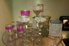 Bling+Rhinestone+Candle+Hol+-+Table+Centerpiece+-+$4.00